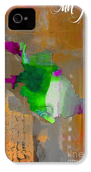 San Jose Map Watercolor IPhone 4 / 4s Case by Marvin Blaine