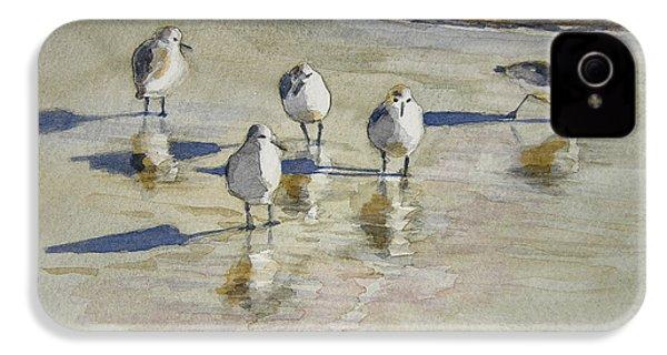Sandpipers 2 Watercolor 5-13-12 Julianne Felton IPhone 4 / 4s Case by Julianne Felton