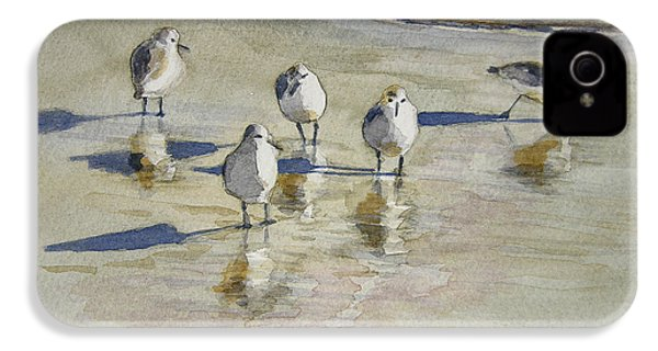 Sandpipers 2 Watercolor 5-13-12 Julianne Felton IPhone 4 / 4s Case by Julianne Felton