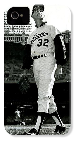 Sandy Koufax Vintage Baseball Poster IPhone 4 / 4s Case by Gianfranco Weiss