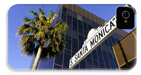 Santa Monica Blvd Sign In Beverly Hills California IPhone 4 / 4s Case by Paul Velgos