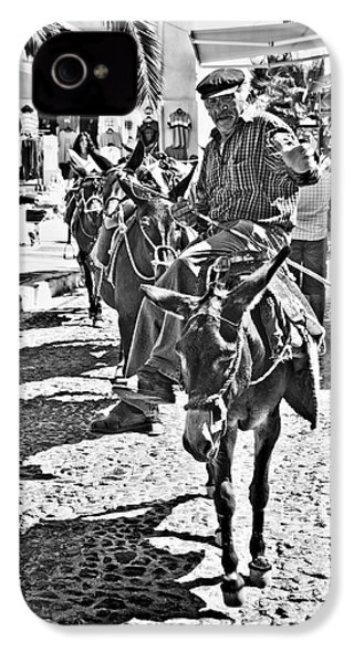 Santorini Donkey Train. IPhone 4 / 4s Case by Meirion Matthias