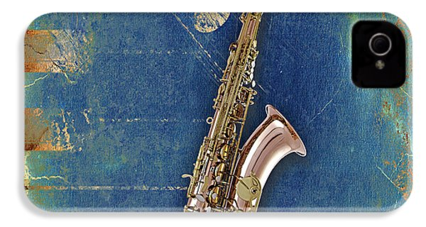 Saxophone Collection IPhone 4 / 4s Case by Marvin Blaine