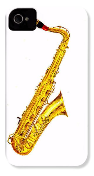 Saxophone IPhone 4 / 4s Case by Michael Vigliotti