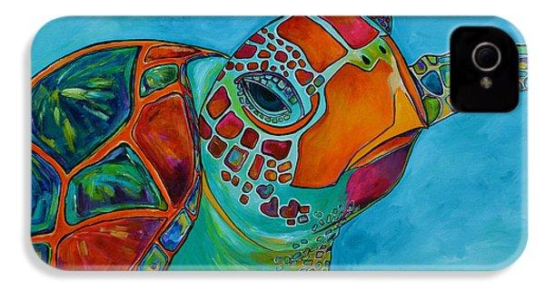 Seaglass Sea Turtle IPhone 4 / 4s Case by Patti Schermerhorn