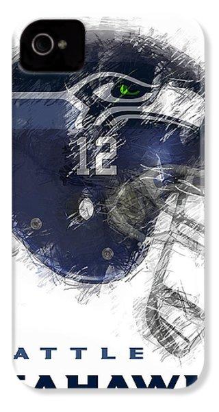 Seahawks 12 IPhone 4 / 4s Case by Daniel Hagerman