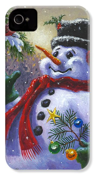 Seasons Greetings IPhone 4 / 4s Case by Richard De Wolfe