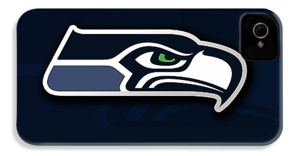 Seattle Seahawks IPhone 4 / 4s Case by Marvin Blaine