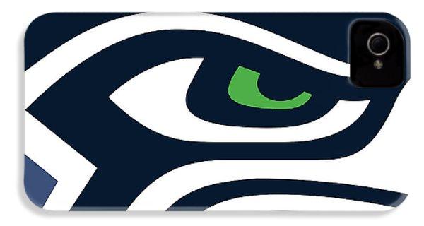 Seattle Seahawks IPhone 4 / 4s Case by Tony Rubino