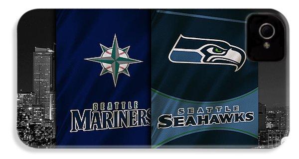 Seattle Sports Teams IPhone 4 / 4s Case by Joe Hamilton