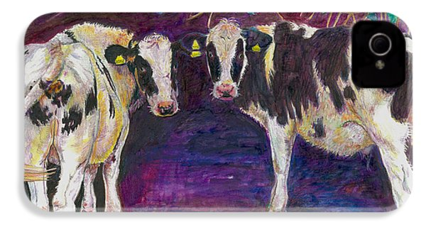 Sheltering Cows IPhone 4 / 4s Case by Helen White