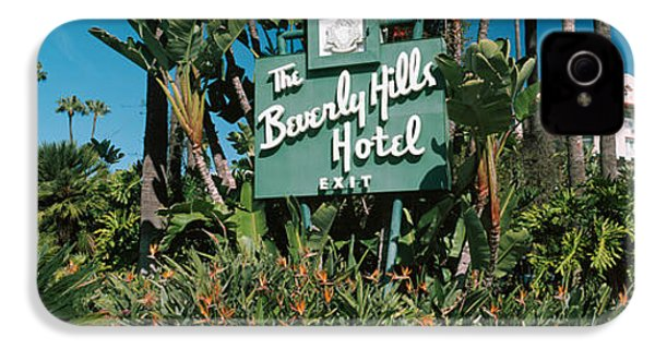 Signboard Of A Hotel, Beverly Hills IPhone 4 / 4s Case by Panoramic Images