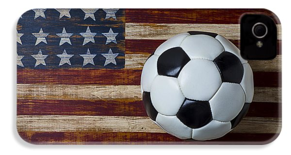 Soccer Ball And Stars And Stripes IPhone 4 / 4s Case by Garry Gay