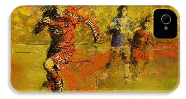 Soccer  IPhone 4 / 4s Case by Corporate Art Task Force