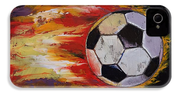 Soccer IPhone 4 / 4s Case by Michael Creese