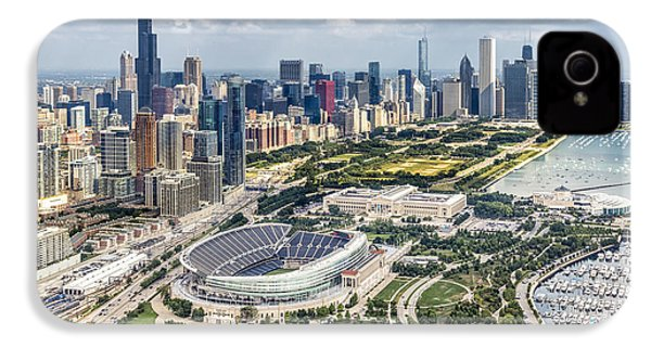 Soldier Field And Chicago Skyline IPhone 4 / 4s Case by Adam Romanowicz