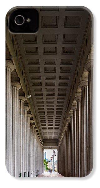Soldier Field Colonnade IPhone 4 / 4s Case by Steve Gadomski