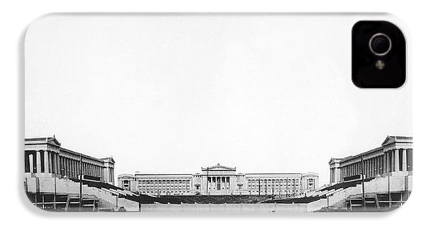 Soldiers' Field And Museum IPhone 4 / 4s Case by Underwood Archives