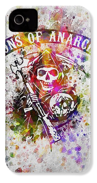 Sons Of Anarchy In Color IPhone 4 / 4s Case by Aged Pixel