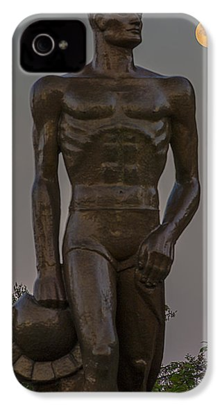 Sparty And Moon IPhone 4 / 4s Case by John McGraw