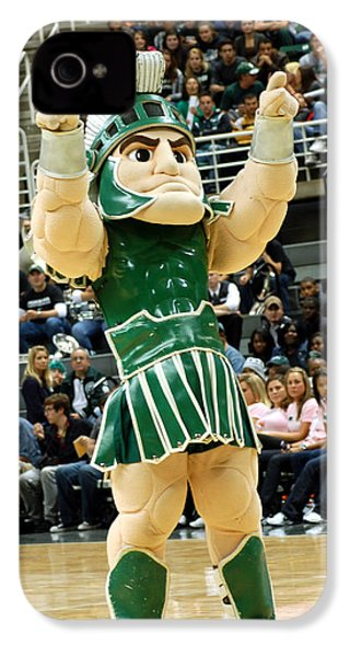 Sparty At Basketball Game  IPhone 4 / 4s Case by John McGraw