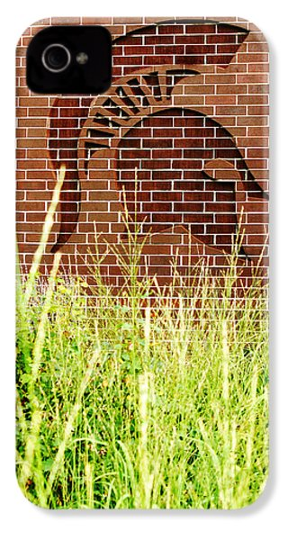 Sparty On The Wall IPhone 4 / 4s Case by John McGraw