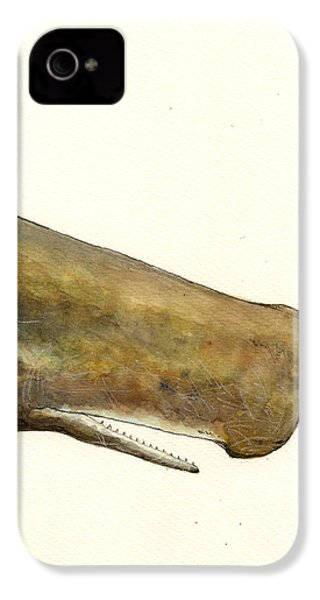 Sperm Whale First Part IPhone 4 / 4s Case by Juan  Bosco