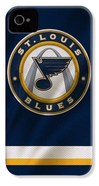 St Louis Blues Uniform IPhone 4 / 4s Case by Joe Hamilton