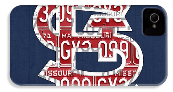 St. Louis Cardinals Baseball Vintage Logo License Plate Art IPhone 4 / 4s Case by Design Turnpike