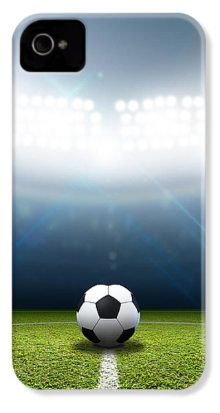Stadium And Soccer Ball IPhone 4 / 4s Case by Allan Swart