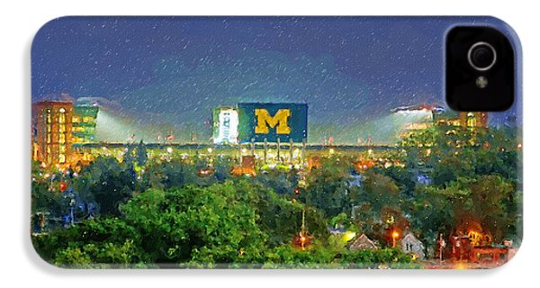 Stadium At Night IPhone 4 / 4s Case by John Farr