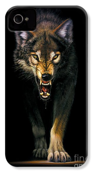 Stalking Wolf IPhone 4 / 4s Case by MGL Studio - Chris Hiett