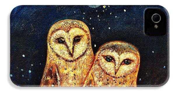 Starlight Owls IPhone 4 / 4s Case by Shijun Munns