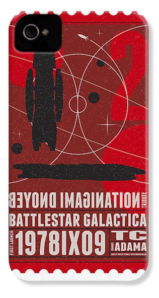 Starschips 02-poststamp - Battlestar Galactica IPhone 4 / 4s Case by Chungkong Art