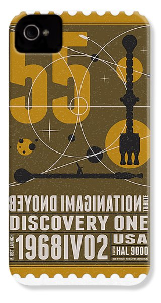 Starschips 55-poststamp -discovery One IPhone 4 / 4s Case by Chungkong Art