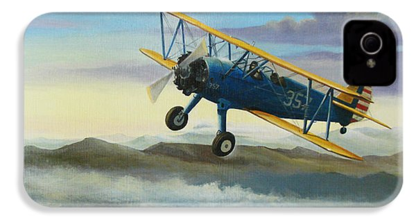 Stearman Biplane IPhone 4 / 4s Case by Stuart Swartz