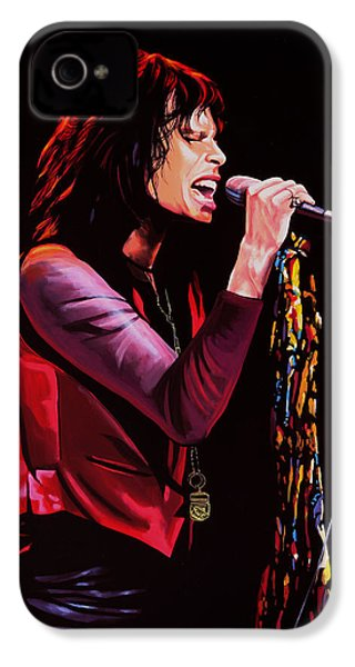 Steven Tyler In Aerosmith IPhone 4 / 4s Case by Paul Meijering