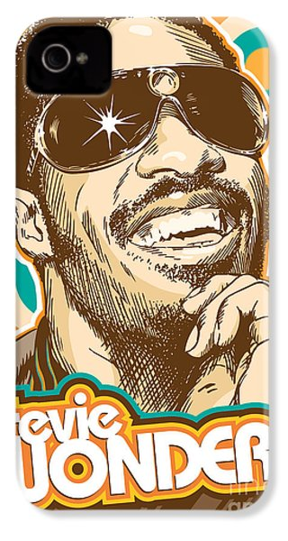 Stevie Wonder Pop Art IPhone 4 / 4s Case by Jim Zahniser