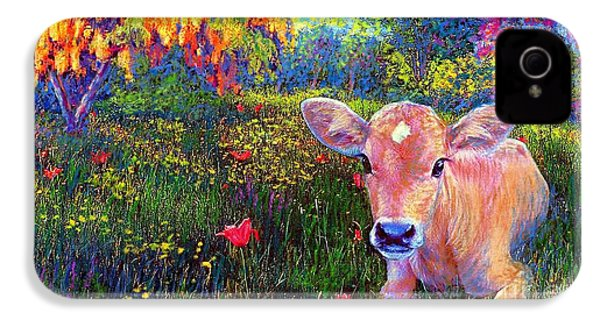 Such A Contented Cow IPhone 4 / 4s Case by Jane Small