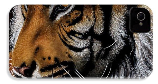 Sumatran Tiger Profile IPhone 4 / 4s Case by Jurek Zamoyski
