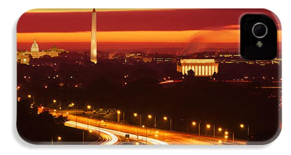 Sunset, Aerial, Washington Dc, District IPhone 4 / 4s Case by Panoramic Images