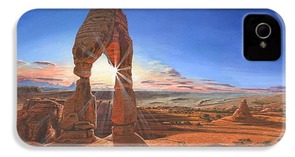 Sunset At Delicate Arch Utah IPhone 4 / 4s Case by Richard Harpum