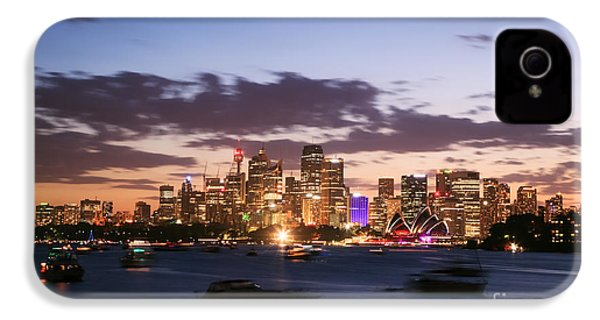 Sydney Skyline At Dusk Australia IPhone 4 / 4s Case by Matteo Colombo