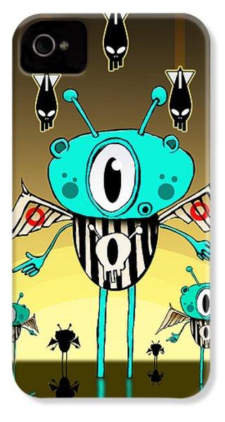 Team Alien IPhone 4 / 4s Case by Johan Lilja
