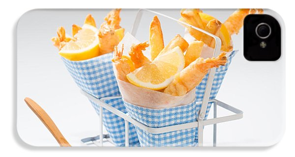 Tempura Prawns IPhone 4 / 4s Case by Amanda Elwell