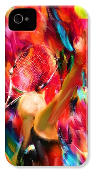 Tennis I IPhone 4 / 4s Case by Lourry Legarde