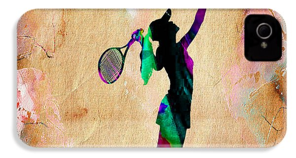 Tennis Player IPhone 4 / 4s Case by Marvin Blaine