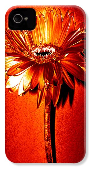 Tequila Sunrise Zinnia IPhone 4 / 4s Case by Sherry Allen