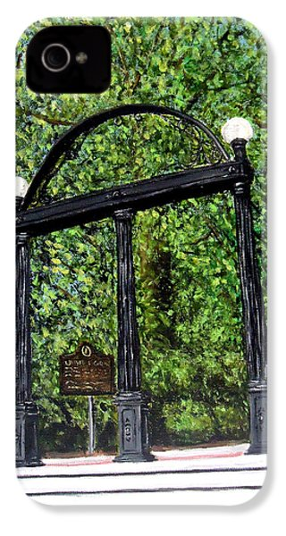 The Arch - University Of Georgia- Painting IPhone 4 / 4s Case by Katie Phillips