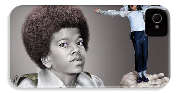 The Best Of Me - Handle With Care - Michael Jacksons IPhone 4 / 4s Case by Reggie Duffie